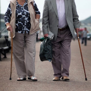 life expectancy - old people walking