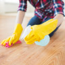 woman doing routine housework