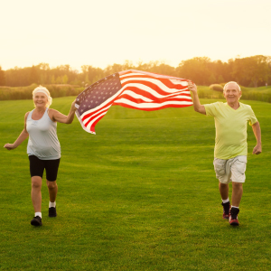 Death rates in usa - old people running in the summer