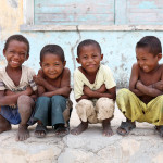 fertility in rural Africa: group of boys